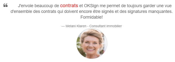 tevreden gebruiker OKSign