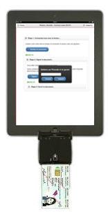 Ipad with smartcard